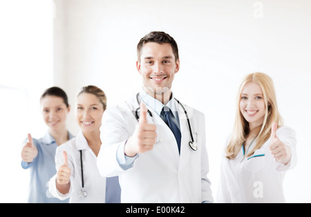 professional young team or group of doctors - Stock Photo