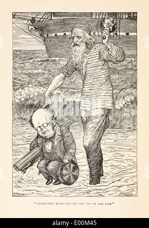 Henry Holiday (1839-1927) illustration from Lewis Carroll's 'The Hunting of the Snark – An Agony in Eight Fits'published - Stock Photo