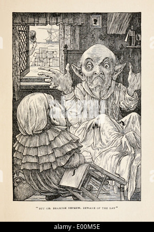 Henry Holiday (1839-1927) illustration from Lewis Carroll's 'The Hunting of the Snark – An Agony in Eight Fits' - Stock Photo