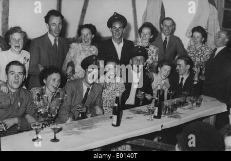 Schuetzenfest ('marksmen's festival') in Endorf in the Sauerland, 1949 - Stock Photo