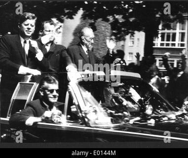John Fitzgerald Kennedy visiting Berlin, 1963 - Stock Photo