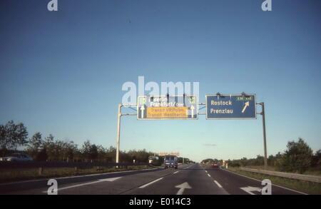 Transit motorway, 1990 - Stock Photo