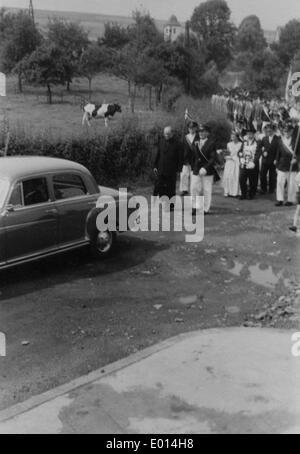 Schuetzenfest ('marksmen's festival') in Endorf in Sundern, 1958 - Stock Photo