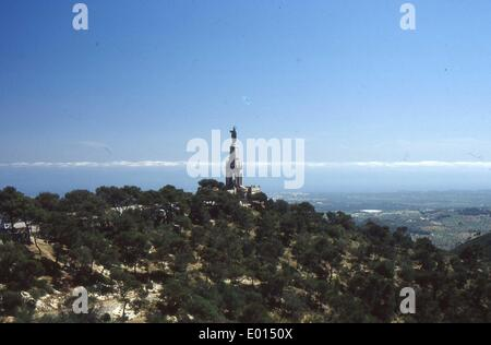 Christ the King monument in Mallorca - Stock Photo