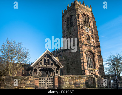St Marys and All Saints Church at Great Budworth, Cheshire. - Stock Photo