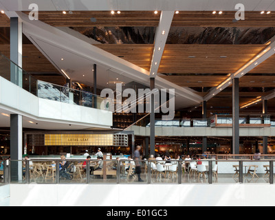 Restaurants, Westfield Stratford City, Olympic Park, London, UK - Stock Photo