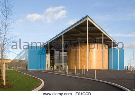 Folkestone Academy in Kent designed by world renowned architects Foster and Partners and Buro Happold - Stock Photo
