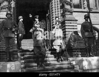 Frederick Francis IV, Grand Duke of Mecklenburg-Schwerin and Duke Adolf Friedrich of Mecklenburg in Rostock, 1933 - Stock Photo