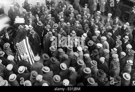 Global economic crisis: Unemployed demonstrators in New York, 1930 - Stock Photo