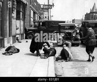Global economic crisis: Unemployed demonstrators in Illinois, 1932 - Stock Photo