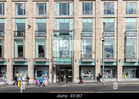 Exterior of Harvey Nichols department store St Andrew Square, Edinburgh. - Stock Photo