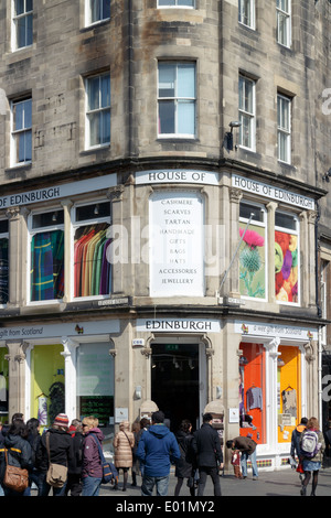 House of Edinburgh gift and souvenir shop on the Royal Mile, Scotland. - Stock Photo