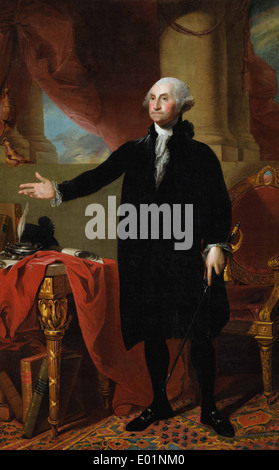 Gilbert Stuart George Washington (The Lansdowne Portrait) - Stock Photo