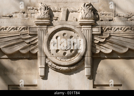 London, England, UK. Thorneycroft House, 7-9  Dean Bradley Street. (part of Westminster School) Art deco facade - Stock Photo