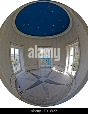 Inside the East Lookout of the Commonwealth Air Forces Memorial Runnymede UK - Stock Photo