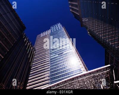 Tokyo Midtown complex high-rise buildings. Roppongi, Tokyo, Japan. - Stock Photo