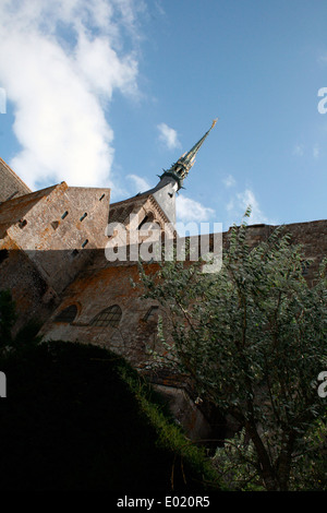 The Abbey at Le Mont Saint Michel. Photograph by Kim Craig. - Stock Photo