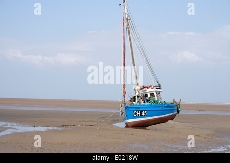 sail fishing boat moored on the beach. - Stock Photo