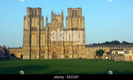 Stock File Pic. 26th August 2013. Wells Cathedral, Somerset in the UK. An Elderly Lady fell 30feet inside the Bell - Stock Photo