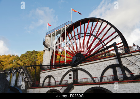 The Great Laxey Wheel, Isle of Man - Stock Photo
