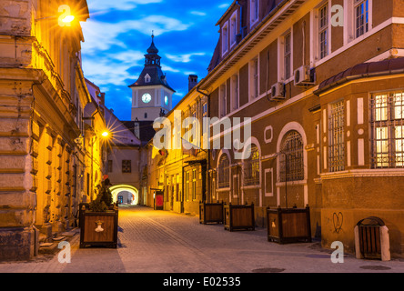 Brasov council house night view decorated for christmas and stock photo royalty free image - Saxon style houses in transylvania ...