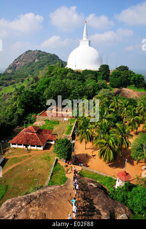 Maha Stupa, Buddhist monastery of Mihintale, Anuradhapura, North Central Province, Sri Lanka - Stock Photo