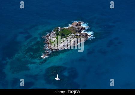 Africa, Seychelles Islands, tiny Island off mahè - Stock Photo