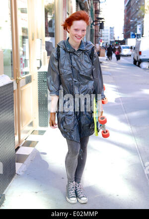 Margarita Babima strolling in New York City - April 24, 2014 - Photo: Runway Manhattan/Charles Eshelman/picture - Stock Photo