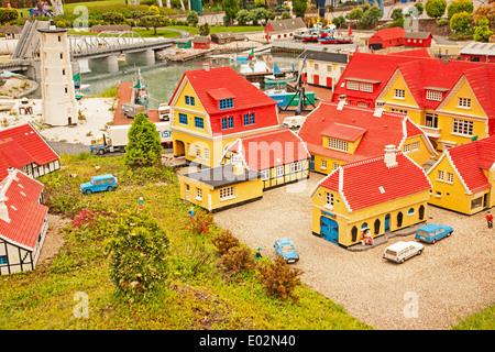 UK, Windsor, Legoland, a family leisure park, lego houses. - Stock Photo