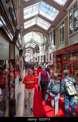 Burlington Arcade, London. - Stock Photo