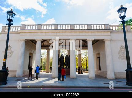 Bomber Command Memorial in Green Park London. - Stock Photo