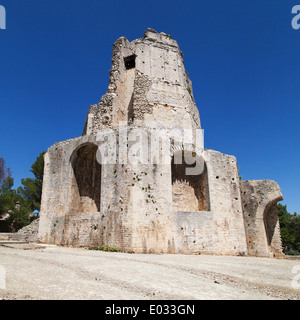 Tour Magne, roman tower in Nimes, France. - Stock Photo