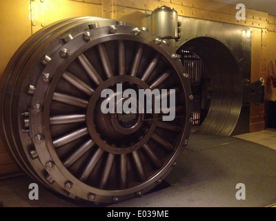 Old bank vault in Toronto Canada - Stock Photo