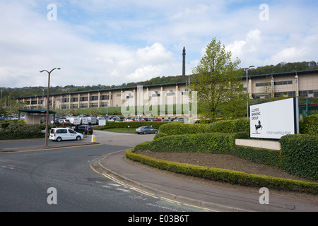 Lloyds Bank (Halifax HBOS) Data Centre at Copley, West Yorkshire - Stock Photo
