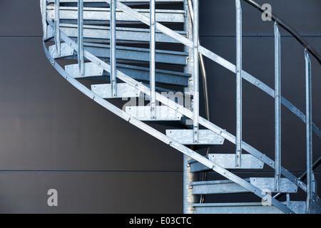 modern metal spiral staircase dark gray wall houston tx stair kit guide