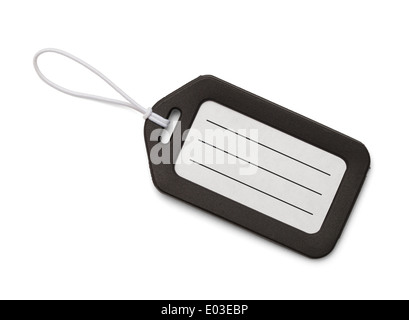 Travel Tag with Copy Space Isolated On White Background. - Stock Photo
