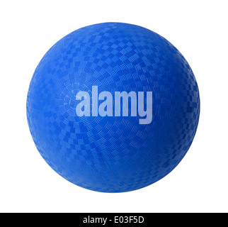 Blue Rubber Ball Isolated on White Background. - Stock Photo