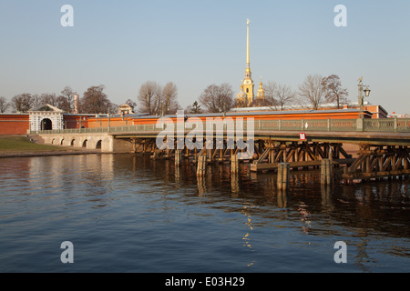 The Ioannovsky Bridge in Peter and Paul Fortress, St. Petersburg, Russia. - Stock Photo