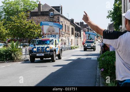 Tour de France 2013 at Saint-Nicolas-de-Redon  a commune in the Loire-Atlantique department in western France. - Stock Photo