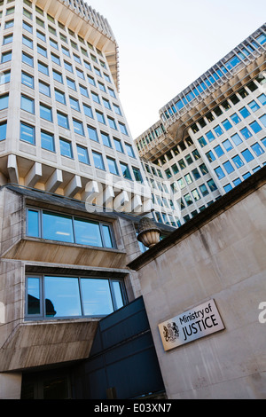 Ministry of Justice building in Queen Anne's Gate London. - Stock Photo