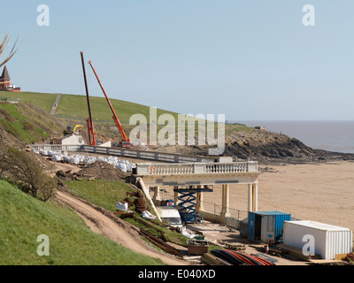 Development of a new amphitheatre on Barry Island - Whitmore Bay beach and Nell's Point - Stock Photo