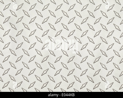 Clean Grey Metal Diamond Tread Pattern Background Texture. - Stock Photo