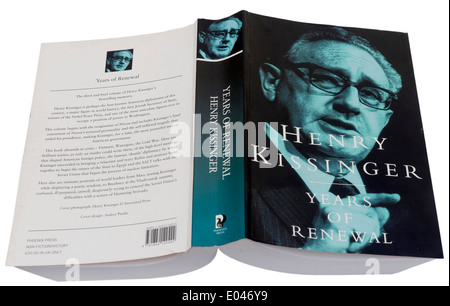 Years of Renewal by Henry Kissinger - Stock Photo