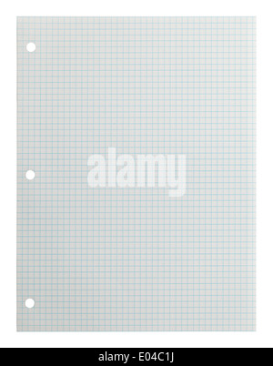 Blank Graph Paper Isolated on White Background. - Stock Photo