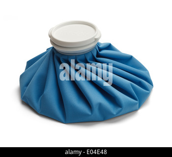 Blue Ice Bag with Cap Isolated on White Background. - Stock Photo