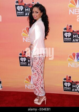 Los Angeles, CA, USA. 1st May, 2014. Mya at arrivals for iHeartRadio Music Awards 2014, The Shrine Auditorium, Los - Stock Photo