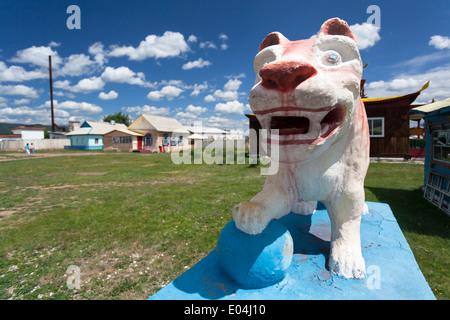 Sculpture in Ivolginsky Datsan, Verkhnyaya Ivolga, Buryatia, Siberia, Russia - Stock Photo