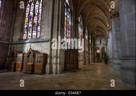 The Marien's cathedral (or new cathedral) in Linz, Upper Austria, Der Mariendom ( oder neue Dom ) in Linz, Oberoesterreich - Stock Photo