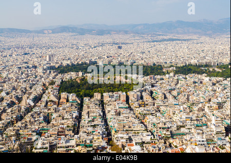 View of Athens City from Lycabettus - Stock Photo
