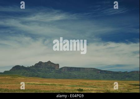 Giants Castle nature reserve, KwaZulu-Natal, South Africa, landscape, mountain peaks, Drakensberg, UNESCO, uKhahlamba, - Stock Photo